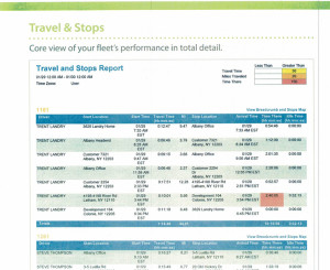 GPS-report-travel-stop